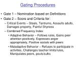 gating procedures