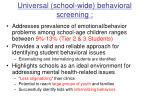 universal school wide behavioral screening