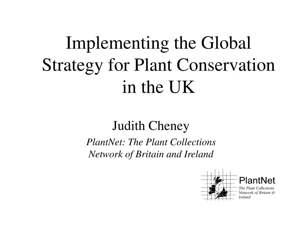 implementing the global strategy for plant conservation in the uk l.