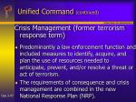 unified command continued