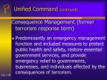 unified command continued48