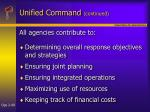 unified command continued49