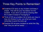 three key points to remember