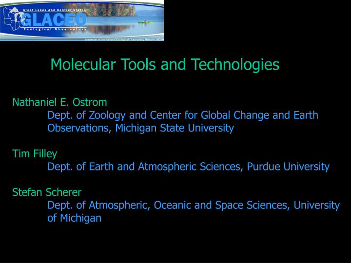 Molecular Tools and Technologies