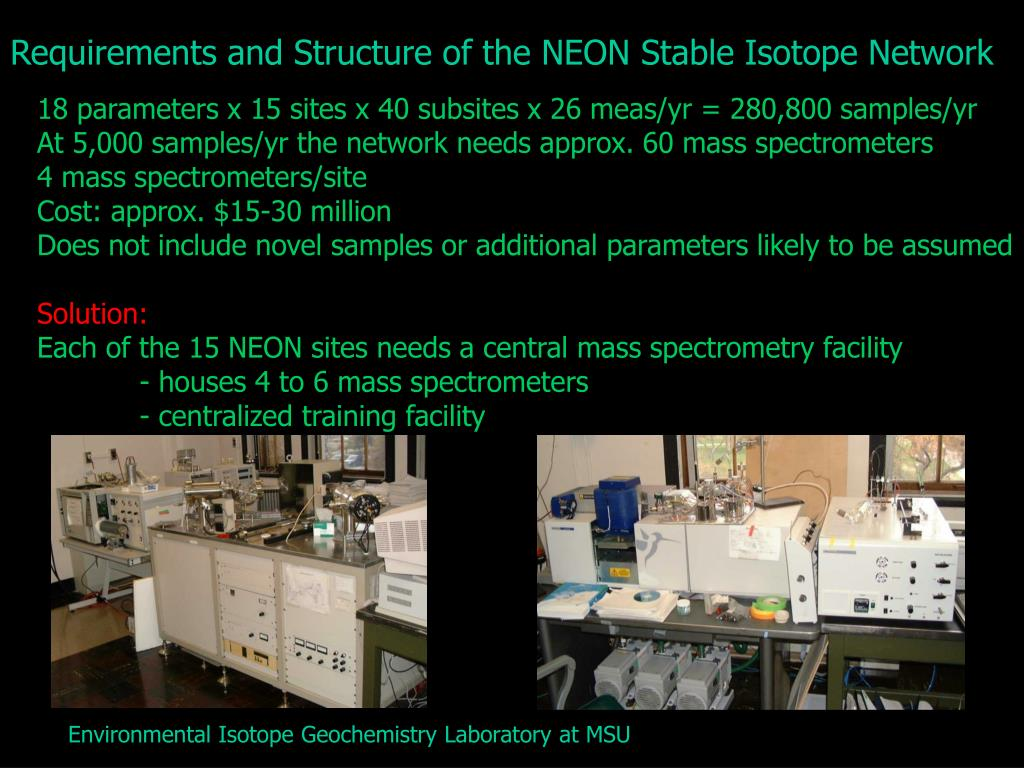 Requirements and Structure of the NEON Stable Isotope Network