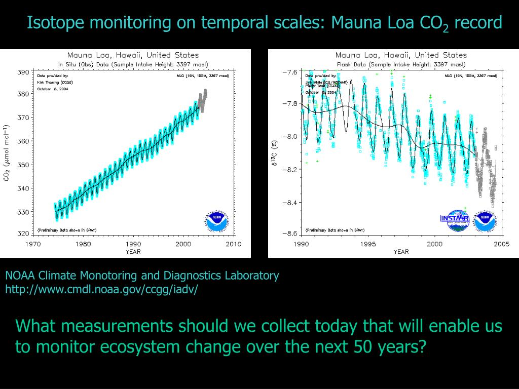 Isotope monitoring on temporal scales: Mauna Loa CO