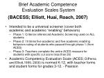 brief academic competence evaluation scales system bacess elliott huai roach 2007