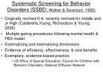 systematic screening for behavior disorders ssbd walker severson 1992