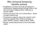 why universal screening benefits schools