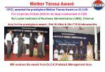 mother terasa award