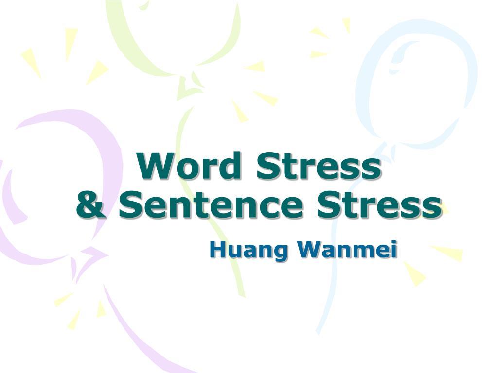 word stress sentence stress l.