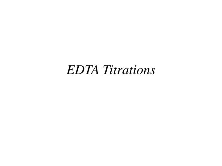 edta titrations n.