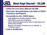best kept secret olum
