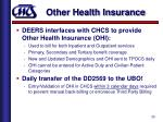 other health insurance