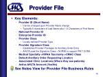 provider file