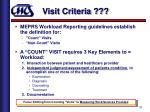 visit criteria