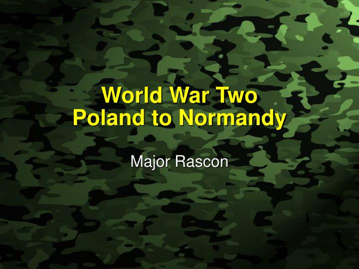 world war two poland to normandy n.