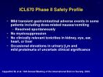 icl670 phase ii safety profile