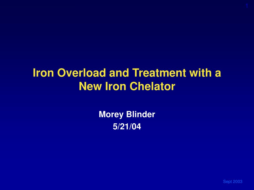 iron overload and treatment with a new iron chelator l.