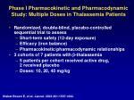 phase i pharmacokinetic and pharmacodynamic study multiple doses in thalassemia patients