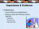 importance evidence10