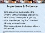 importance evidence6
