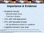 importance evidence9