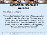 professional health and wellness