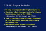 cyp 450 enzyme inhibition