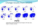 change results from modis16