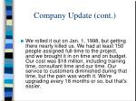 company update cont