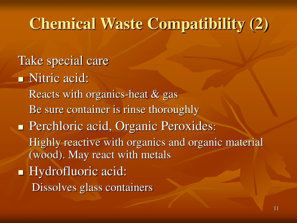 Chemical Waste Compatibility (2)