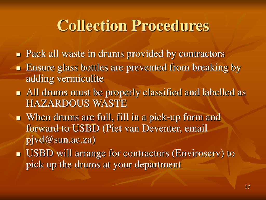 Collection Procedures
