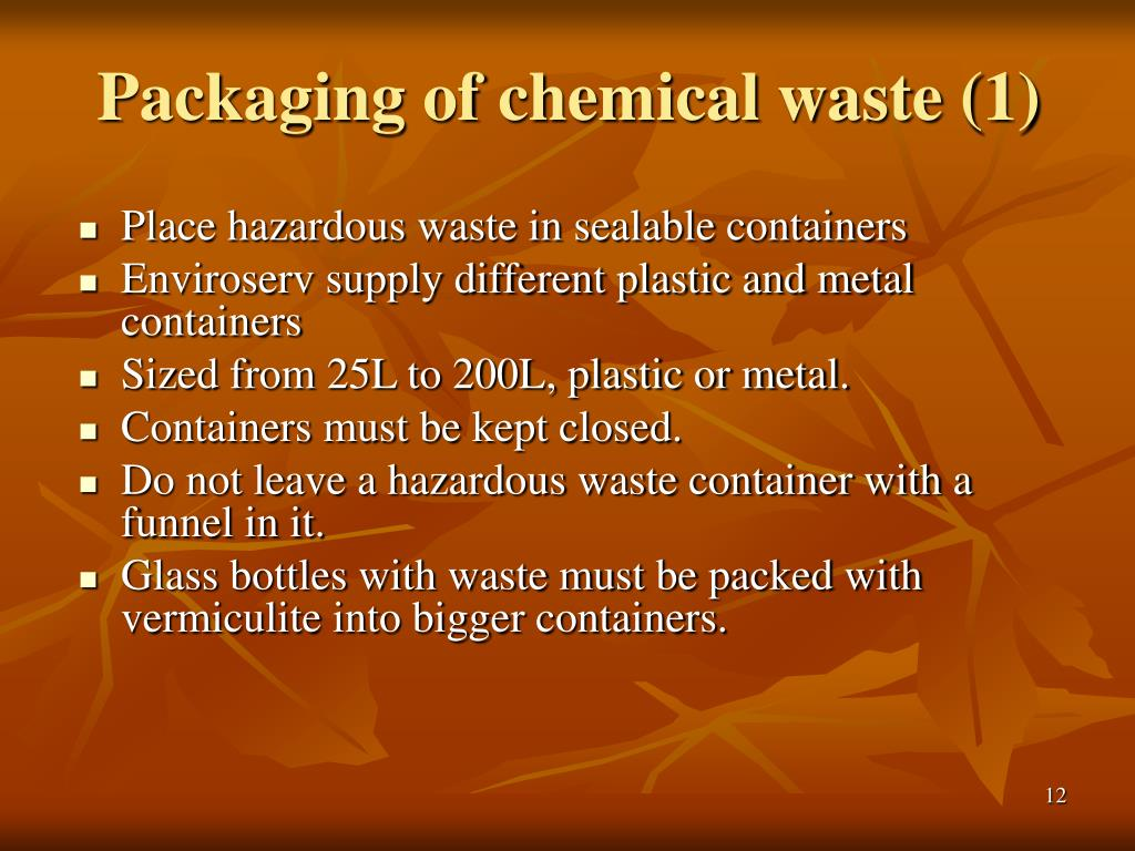 Packaging of chemical waste (1)