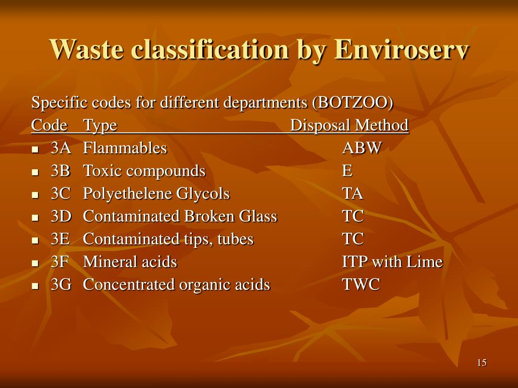 Waste classification by Enviroserv