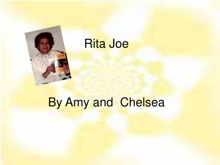 rita joe by amy and chelsea n.