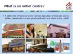 what is an outlet centre