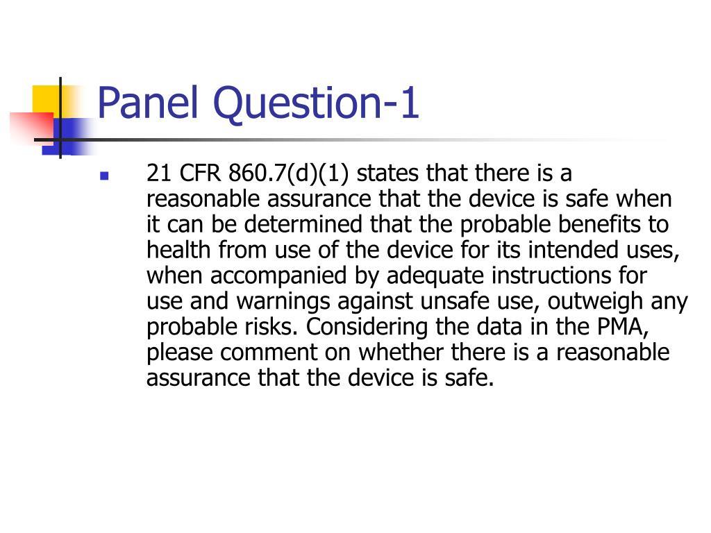 Panel Question-1