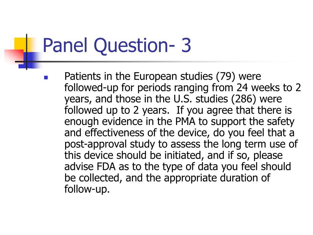 Panel Question- 3