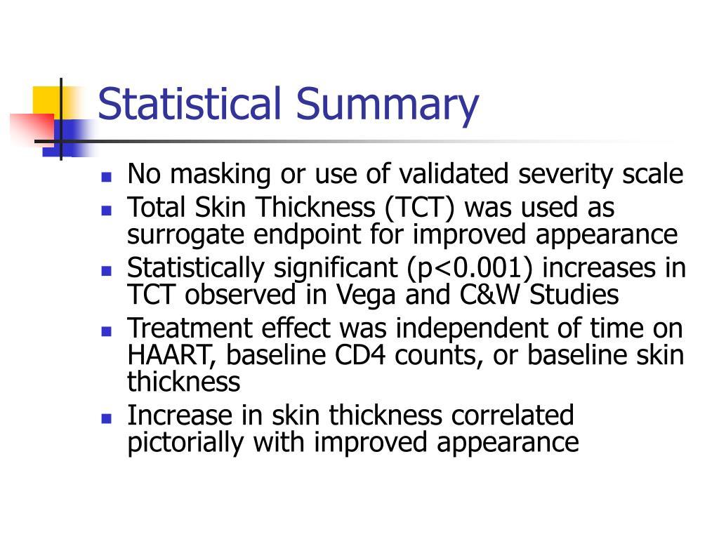Statistical Summary