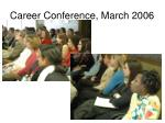 career conference march 2006