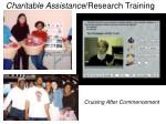 charitable assistance research training