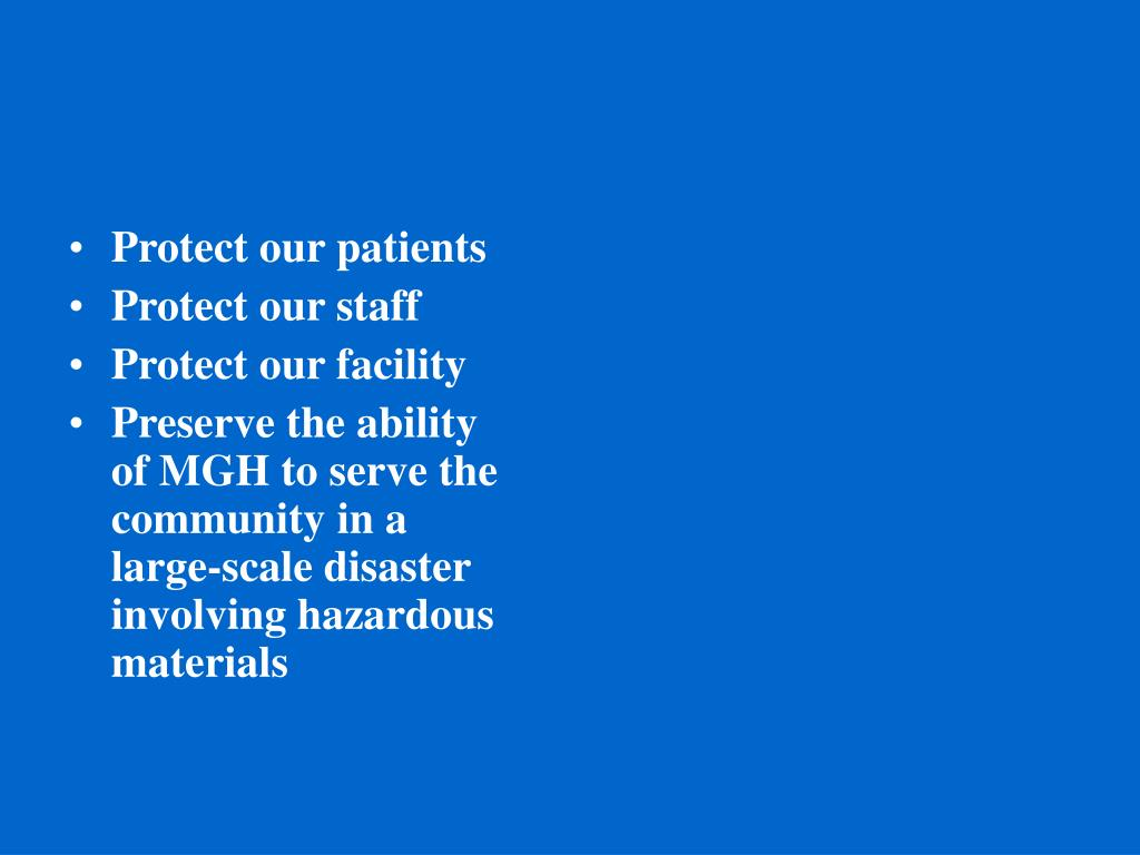 Protect our patients
