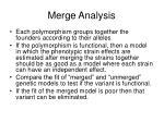 merge analysis