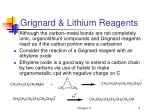 grignard lithium reagents4