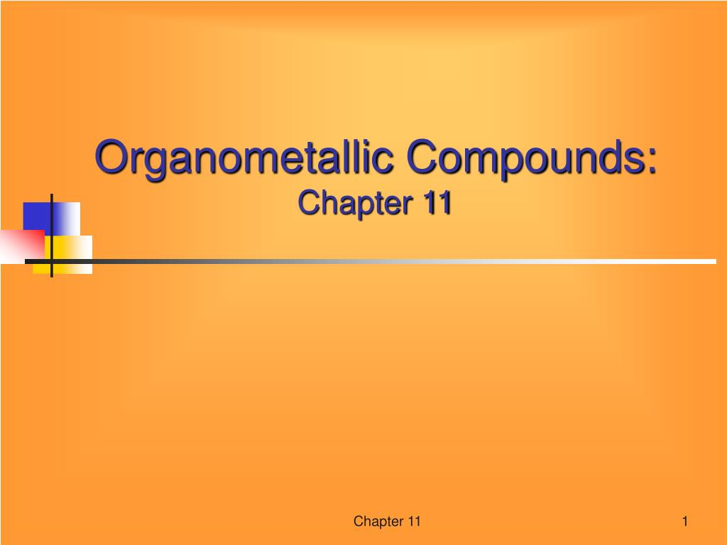 organometallic compounds chapter 11 l.