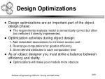 design optimizations