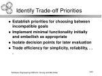 identify trade off priorities