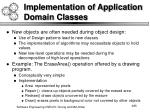 implementation of application domain classes