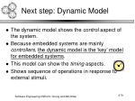 next step dynamic model